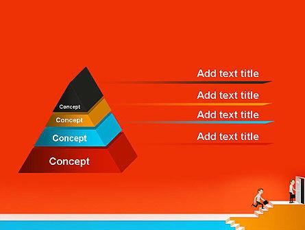 Climbing Ladder Illustration PowerPoint Template Slide 12