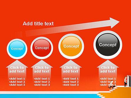 Climbing Ladder Illustration PowerPoint Template Slide 13