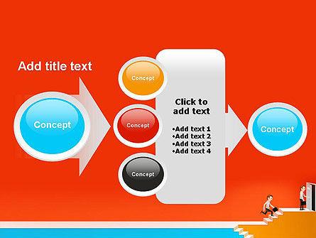 Climbing Ladder Illustration PowerPoint Template Slide 17