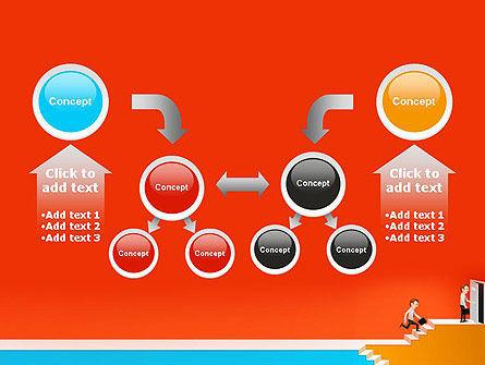 Climbing Ladder Illustration PowerPoint Template Slide 19