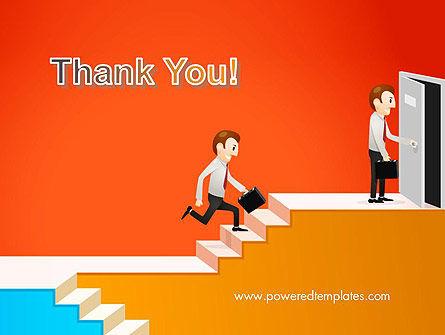 Climbing Ladder Illustration PowerPoint Template Slide 20