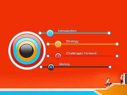 Climbing Ladder Illustration PowerPoint Template Slide 3