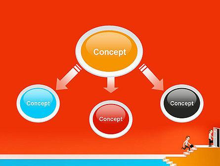 Climbing Ladder Illustration PowerPoint Template Slide 4