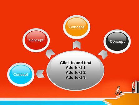 Climbing Ladder Illustration PowerPoint Template Slide 7