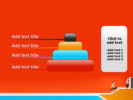 Climbing Ladder Illustration PowerPoint Template Slide 8