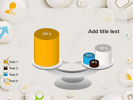 Scattering of Badges with Icons PowerPoint Template Slide 10