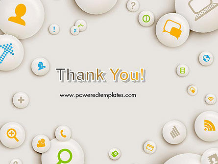 Scattering of Badges with Icons PowerPoint Template Slide 20