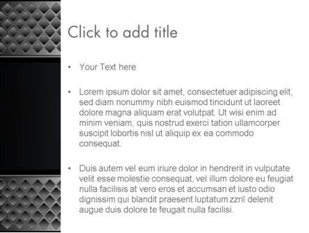 Metal Abstract Texture PowerPoint Template, Slide 3, 13747, Abstract/Textures — PoweredTemplate.com