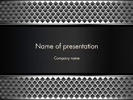 Metal Abstract Texture PowerPoint Template, 13747, Abstract/Textures — PoweredTemplate.com