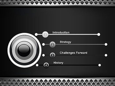 Metal Abstract Texture PowerPoint Template Slide 3