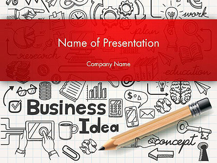 Business Doodles PowerPoint Template, 13748, Business — PoweredTemplate.com