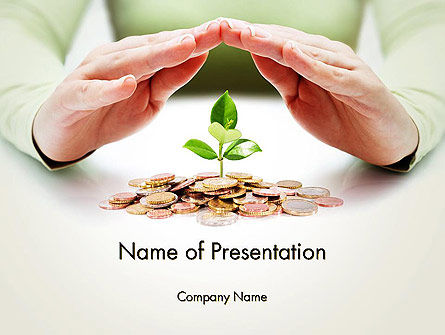 Green Finance PowerPoint Template, 13751, Financial/Accounting — PoweredTemplate.com