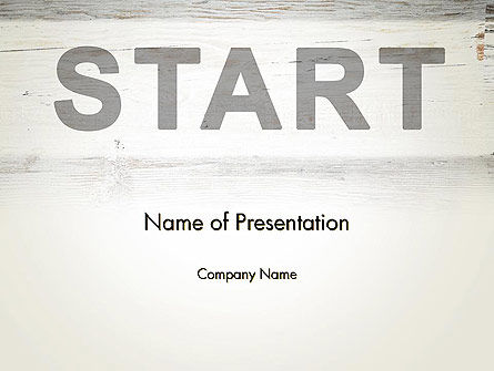 Business Concepts: Start PowerPoint Template #13754