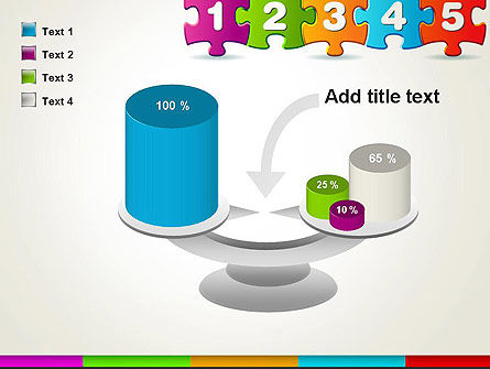 Jigsaw Puzzle Piece with Numbers PowerPoint Template Slide 10