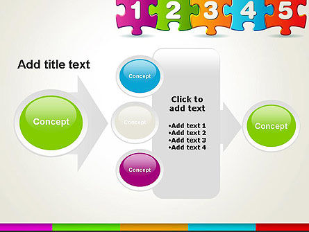 Jigsaw Puzzle Piece with Numbers PowerPoint Template Slide 17