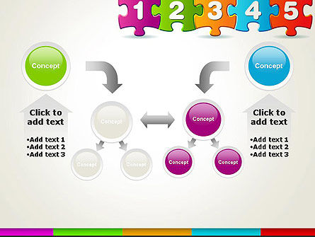 Jigsaw Puzzle Piece with Numbers PowerPoint Template Slide 19