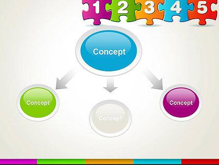 Jigsaw Puzzle Piece with Numbers PowerPoint Template Slide 4