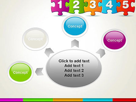Jigsaw Puzzle Piece with Numbers PowerPoint Template Slide 7