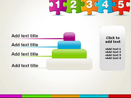 Jigsaw Puzzle Piece with Numbers PowerPoint Template Slide 8