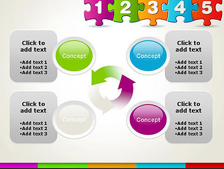 Jigsaw Puzzle Piece with Numbers PowerPoint Template Slide 9