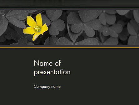 Nature & Environment: Yellow Flower on Gray Leaves PowerPoint Template #13760