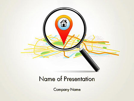 Search Location PowerPoint Template