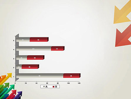 Color Arrows Pointing Towards Each Other PowerPoint Template Slide 11