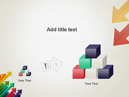 Color Arrows Pointing Towards Each Other PowerPoint Template Slide 13