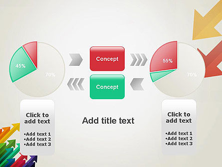 Color Arrows Pointing Towards Each Other PowerPoint Template Slide 16