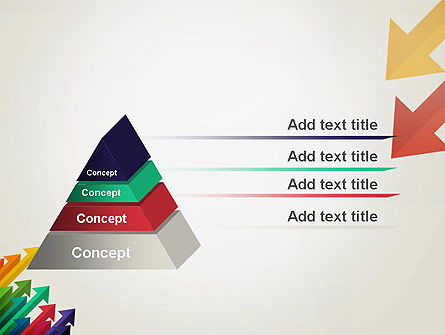 Color Arrows Pointing Towards Each Other PowerPoint Template, Slide 4, 13765, Abstract/Textures — PoweredTemplate.com