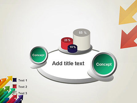 Color Arrows Pointing Towards Each Other PowerPoint Template Slide 6