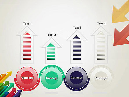 Color Arrows Pointing Towards Each Other PowerPoint Template Slide 7
