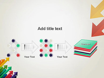 Color Arrows Pointing Towards Each Other PowerPoint Template Slide 9
