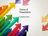 Abstract/Textures: Color Arrows Pointing Towards Each Other PowerPoint Template #13765