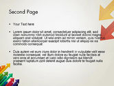 Color Arrows Pointing Towards Each Other PowerPoint Template#2