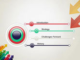 Color Arrows Pointing Towards Each Other PowerPoint Template#3