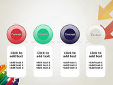 Color Arrows Pointing Towards Each Other PowerPoint Template#5