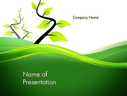 Spring Background PowerPoint Template, 13768, Nature & Environment — PoweredTemplate.com