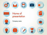 Education & Training: Flat Icons On Education Theme PowerPoint Template #13769