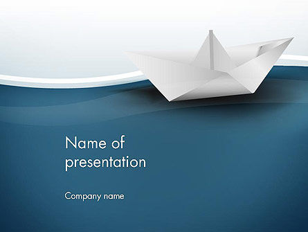 Business Concepts: Origami Paper Boat PowerPoint Template #13771
