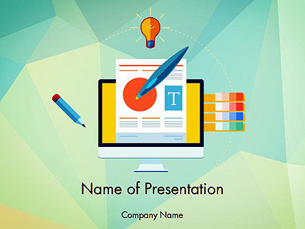 Careers/Industry: Document Ontwerp PowerPoint Template #13772