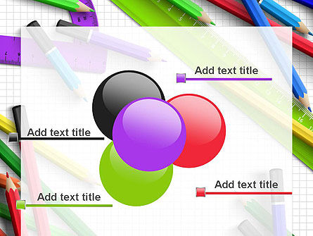 Pencils and Rulers PowerPoint Template Slide 10