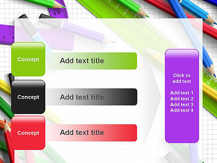 Pencils and Rulers PowerPoint Template Slide 12