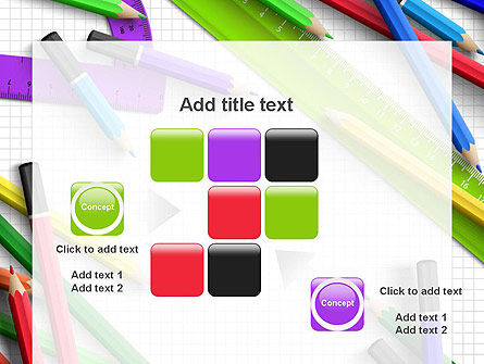 Pencils and Rulers PowerPoint Template Slide 16