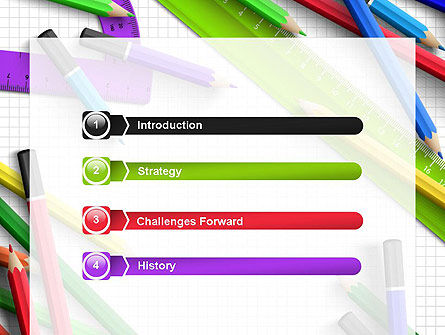 Pencils and Rulers PowerPoint Template Slide 3