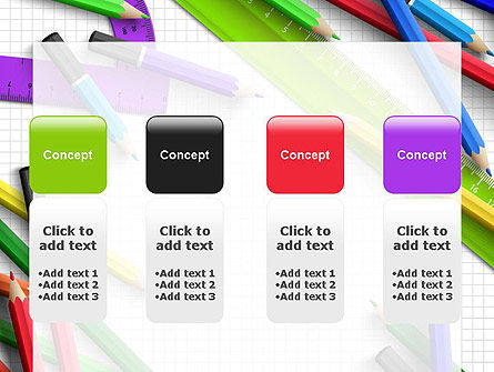 Pencils and Rulers PowerPoint Template Slide 5