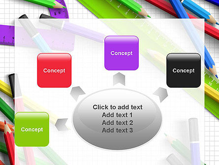 Pencils and Rulers PowerPoint Template Slide 7