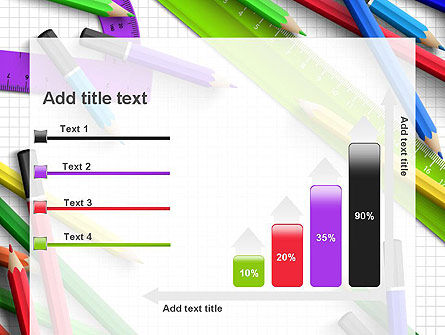 Pencils and Rulers PowerPoint Template Slide 8
