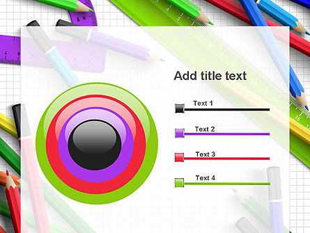 Pencils and Rulers PowerPoint Template Slide 9