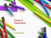 Education & Training: Pencils and Rulers PowerPoint Template #13773